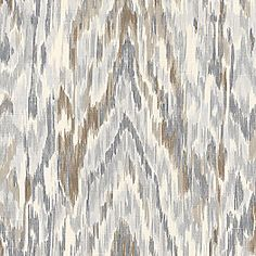 Tan & Gray Faux Bois Fabric Mirage Frost