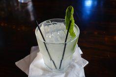Gin Gimlet with Fresh Basil