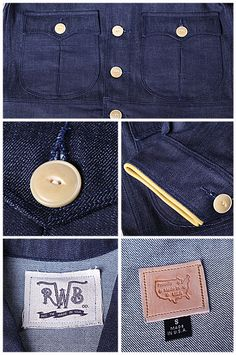 Blue Fashion, Men's Fashion, Japanese Denim, Dungarees, Pocket Detail, Vintage Denim, Pattern Fashion, Shirt Style, Work Wear