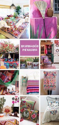 mexican home decor Decor Mexican, say goodbye to the white - Diy Fun World Mexican Home Decor, Mexican Art, Mexican Bedroom Decor, Mexican Decorations, Mexican Style Homes, Mexican Interior Design, Hacienda Style, Fun World, House Styles