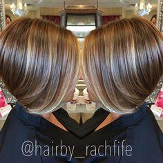 Short bob haircut with subtle balayage highlights. hair by Rachel Fife @ SF Salon