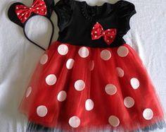 Vestido Minnie Vermelha                                                                                                                                                                                 Mais