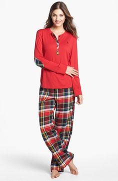 Lauren Ralph Lauren Knit & Flannel Pajamas | Nordstrom