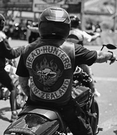"D O M I N I Q U E on Instagram: ""Head Hunters MC. #headhuntersmc #newzealand #motorcycleclub #patchmember #mc #1%er #blackandwhite #blackandwhitephotography #photography…"""