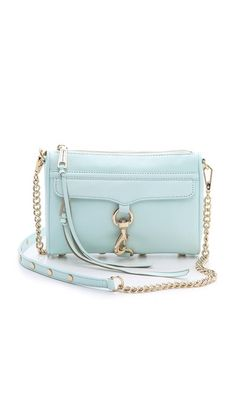 Rebecca Minkoff Mini Mac Bag - Light Turq