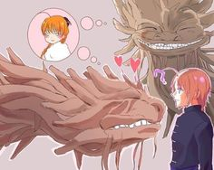 """We look so alike Kamui, the Orochi think it's me.""  #Gintama #Gintamakouka #Gintamakamui #Kouka #Kamui #Yato #Yatozoku"