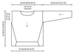 """Von oben nach unten gestrickter DROPS Pullover in """"Air"""". Größe S – XXXL. ~ DROPS Design"""