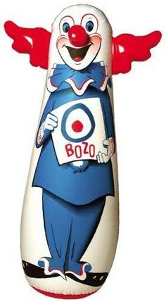 I had a bop bag when I was little, I don't remember it being Bozo though.  I always thought it was a Shmoo, but that's not it.  Maybe it was Bozo and I'm just blocking out the red hair things.   I really remember all white!