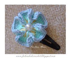 """FALANDO DE CROCHET"": FLOR DE CROCHE TERESA (Crochet Flower - Multi Color Crochet Pansy)"
