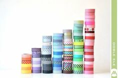 Decorate everything with Washi tape. Make your own Washi tape!: http://www.buzzfeed.com/peggy/56-ways-to-decorate-with-washi-tape