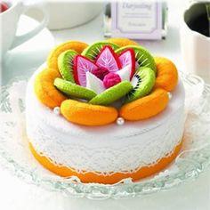 cartamodelli feltro e pannolenci | Torte di feltro e kit pronti per creare dolcetti - Pane, Amore e ...