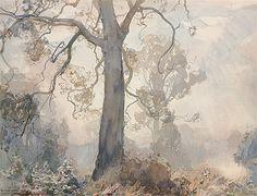 Hans HEYSEN | Gums under mist