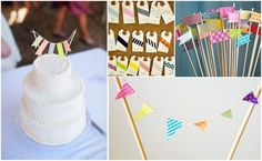 Washi Tape bunting, tags, cupcake toppers. The possibilities are endless.