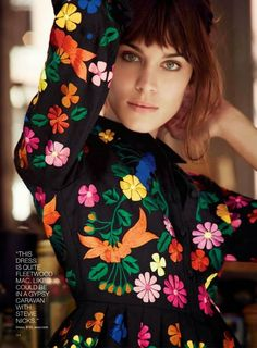 Alexa Chung by Will Davidson for Lucky Magazine