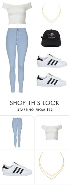 """""""Untitled #193"""" by meliaclimons on Polyvore featuring Topshop, adidas and Lana"""