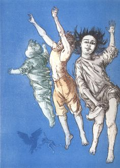 View Flying Children from Peter Pan by Paula Rego on artnet. Browse upcoming and past auction lots by Paula Rego. Painting People, Figure Painting, Pablo Picasso, Paula Rego Art, Sculpture, Fine Art, Book Illustration, Peter Pan, Printmaking