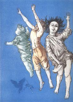 Crianças voando