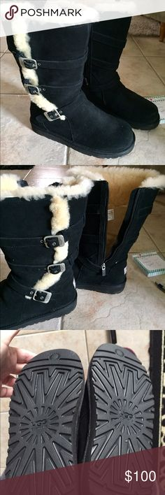 Authentic Uggs in EUC These uggs are like brand new. I only wore them once and also waterproofed them with ugg brand. My dog needs surgery which is the only reason I'm selling UGG Shoes Winter & Rain Boots