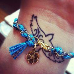 Metallic Braided Modern Friendship Bracelet - Electric Blue