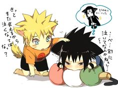 Oooow :( that poor Baby. Not my art. #naruto #sasuke