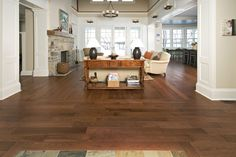 distressed hickory hardwood flooring | Hickory Hardwood Stained With Cognac. Distressed