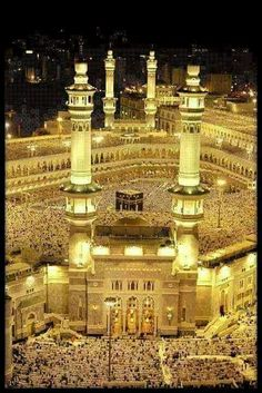 Islamic Images, Islamic Pictures, Islamic Art, Islamic Quotes, Masjid Haram, Mecca Masjid, Mecca Wallpaper, Islamic Wallpaper, Mosque Architecture
