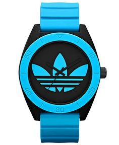 adidas Watch, Unisex Blue Silicone Strap 50mm ADH2847 - Womens Watches - Jewelry Watches - Macys