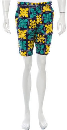 Gitman Brothers Floral Shorts w/ Tags Floral Shorts, Brother, Floral Prints, Navy, Yellow, Stylish, Men, Tops, Fashion