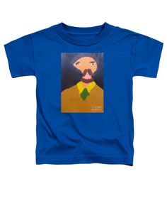 Patrick Francis Royal Blue Designer Toddler T-Shirt featuring the painting Portrait Of Eugene Boch 2015 - After Vincent Van Gogh by Patrick Francis