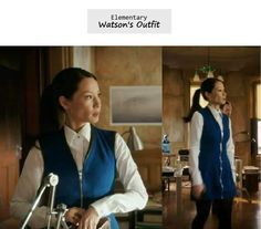 Elementary Ep. 110: Joan Watson's (Lucy Liu) teal blue zip dress | Details on the blog: popdetour.tumblr.com