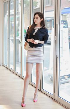 (via Striped Bodycon Dress - BABI N PUMKIN: Shop Korean clothing, bags for women)