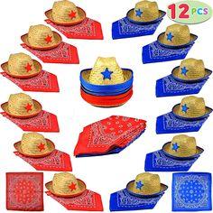 Paper Cups Bandana Ranch Cowboy Western Bandanna Theme Party 9 oz