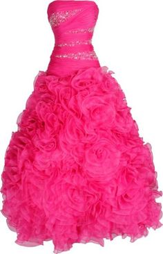 Strapless Beaded Bandage Mesh Florettes Prom Dress Ball Gown Pageant Junior and Junior