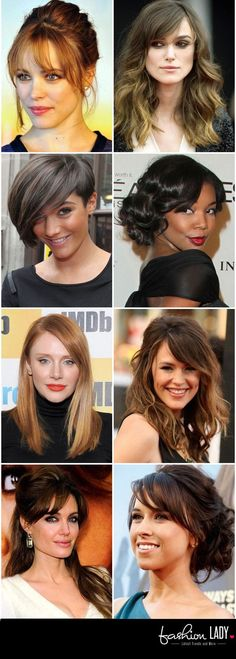 New hairstyles for big foreheads women. About 30+ haircut ideas for big forehead ladies, Wavy, Updo, Bob With Side Fringe and more hairstyles.