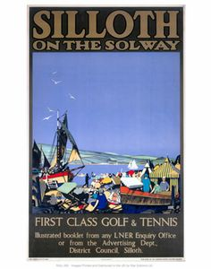 Siloth on the Solway #Vintage #Rail #Railway #Train #Poster #Posters #Prints #Print #Art #UK #Britain #British #Old #Travel #Cumbria www.vintagerailposters.co.uk