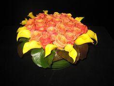 Orange colors and Calla Lilies- a perfect floral combonation for #autumn!