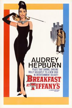 A fantastic Breakfast at Tiffany's movie poster! The lovely Audrey Hepburn in her classic role as Holly Golightly. Check out the rest of our fabulous selection of Audrey Hepburn posters! Need Poster Mounts. Old Movie Posters, Classic Movie Posters, Classic Movies, Vintage Posters, Music Posters, Art Audrey Hepburn, Audrey Hepburn Breakfast At Tiffanys, Breakfast In Tiffany, Aubrey Hepburn