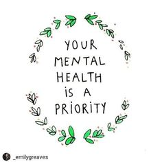 Today is Mental Health Day How are you prioritising your Mental Health? I am sharing this post by as she highlights three really important points! Your mental health is a PRIORITY Your happiness is ESSENTIAL Your self-care is a NECESSITY . Positive Mental Health, Mental Health Matters, Mental Health Slogans, What Is Mental Health, Mental Health Recovery Quotes, Working In Mental Health, Mental Health Organizations, Mental Health Programs, Health And Wellness Quotes