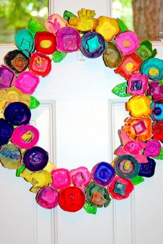Pitter-Patter in Seattle: An Egg Carton Wreath for Spring