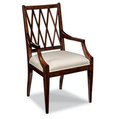 Shop for Woodbridge Furniture Addison Arm Chair, and other Dining Room Arm Chairs at Goods Home Furnishings in North Carolina. Dining Chairs For Sale, Luxury Dining Chair, Antique Dining Chairs, Dinning Chairs, Solid Wood Dining Chairs, Dining Arm Chair, Room Chairs, Side Chairs, Dining Rooms