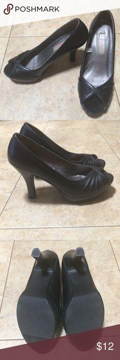 Black Peep Toe Heels Black Peep Toe Heels, only worn a couple times. Xhilaration Shoes Heels