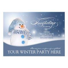 Snowman Winter Party Invitation