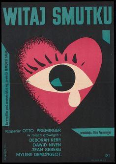 Bonjour Tristesse (1958). Polish poster by Wiktor Gorka.
