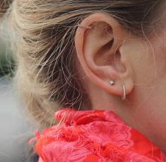 No Piercing Simple Ear Cuff Double Ring Hoop/piercing imitation/fake faux piercing/ear jacket manchette/conch ear wires/ohrklemme ohrclip - Custom Jewelry Ideas Helix Piercings, Double Ear Piercings, Smiley Piercing, Cute Ear Piercings, Piercing Tattoo, Cartilage Piercing Hoop, Helix Piercing Jewelry, Celebrity Ear Piercings, Cartilage Earrings