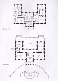 & floor plans of Marble House The Plan, How To Plan, Architectural Floor Plans, Architectural Prints, Mansion Plans, Marble House, Modern Mansion, Apartment Plans, Grand Homes