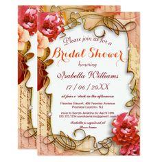 #invitations #wedding #bridalshower - #Watercolor Peonies Summer Bridal Shower Invitation
