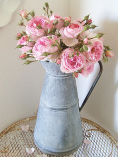 Beautiful pink garden roses, my favourite