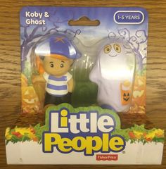 Fisher Price Little People Halloween Koby & Ghost NIB  #FisherPrice