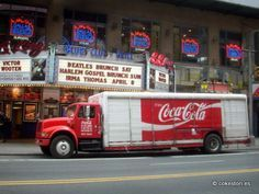 Coca-Cola delivery truck on 42nd Street, New York City