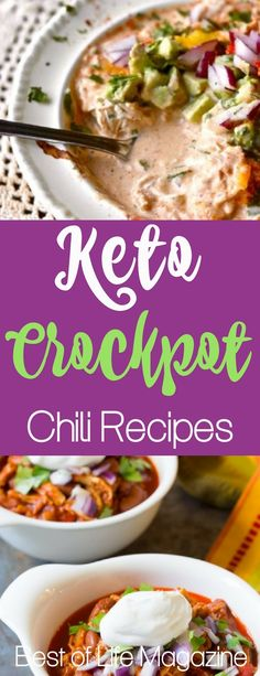 If you're looking for a low carb chili recipe, look no further than keto crockpot chili. These recipes bring together the best of both worlds.